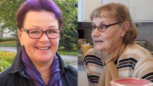 Savonlinnan kaupungin JHL:n yhdistyksen pääluottamusmies Aila Makkonen ja emäntä Aila Makkonen.