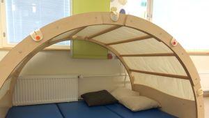 Oppimis- ja ohjauskeskus Valterissa voi opiskella teltasta.
