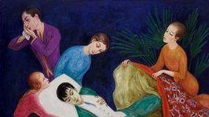 """Nils Dardelin maalaus """"Kuoleva dandy"""" (1918)."""