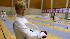 Veteraanimestari Marja-Liisa Someroja.