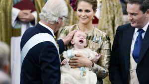 Prinssi Nicolaksen kastetilaisuus Tukholmassa.