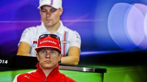 Kimi Räikkönen ja Valtteri Bottas.