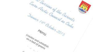 Pääministeri Lavrovin vierailun ruokalista