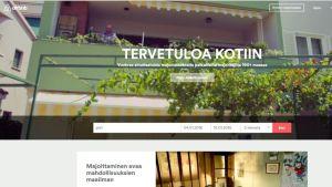 Kuvakaappaus Airbnb:n nettisivuilta