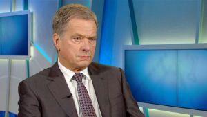 Tasavallan presidentti Sauli Niinistö Ykkösaamun vieraana 17. lokakuuta.