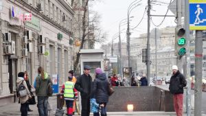 Katunäkymä Moskovasta.