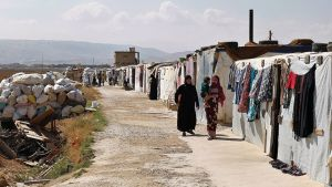 Pakolaisleiri Libanonissa.