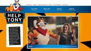 Kuvakaappaus tonyisback.com -sivustolta