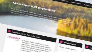 Karelia Expert Matkailupalvelu Oy:n etusivu.