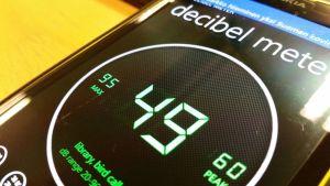 Decibelimittarin voi asentaa myös älypuhelimeen.