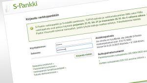 Kuvakaappaus S-Pankin verkkopankista.