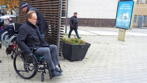 pyörätuoli, esteettömyys, Kemi, pyörätuoli