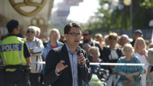 Ruotsidemokraattien puheenjohtaja Jimmie Åkesson.