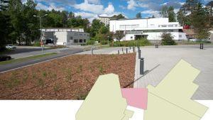 Arkkitehtikilvassa etsitään ratkaisua Alvar Aalto -museon (vas.) ja Keski-Suomen Museon yhdysosalle.