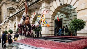 Ai Weiwein järjestämä lego-keräys Lontoon keskustassa 30. lokakuuta.