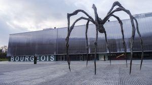 Kuvanveistäjä Louise Bourgeois'n suuri hämähäkkiteos Maman (1999) on esillä nykytaiteenmuseo Garagen pihalla ensivuoden helmikuuhun saakka.