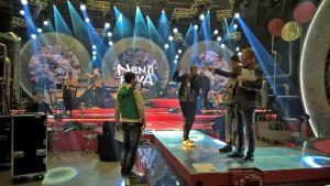 Nenäpäivä-shown harjoitukset tv-studiossa