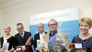 Laura Lindstedt, Kari Hotakainen, Markku Pääskynen, Panu Rajala ja Selja Ahava