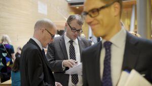 Markku Mantila, Juha Sipilä, Alexander Stubb.