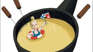 Liisa Helve-Sibaja: Hausfrau - Kotona Sveitsissä -kirjan kansi