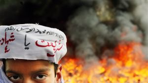 Islamabadissa Pakistanissa poltettiin länsimaisia DVD-levyjä ja videonauhoja huhtikuussa 2007.