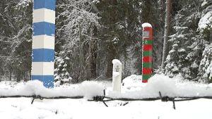 Suomen ja Venäjän rajapyykit.