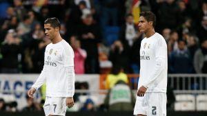 Cristiano Ronaldo ja Raphael Varane.