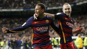 Neymar ja Andres Iniesta kuvassa