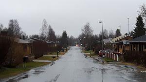 Torniolaista omakotiasuinaluetta Kivirannalla.