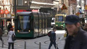 Helsingin keskustaa.