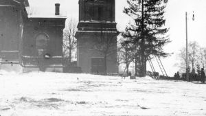 Joulukuusi Tampereen Keskustorilla vuonna 1904