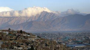 Yleiskuva Kabulin maisemasta.