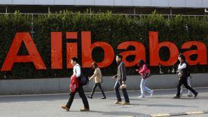 Alibaba-yhtiön logo.