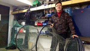 Vuoden 2015 kalamies Juha Lehikoinen.