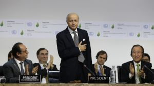 Ranskan ulkoministeri Laurent Fabius toimi Pariisin ilmastokokouksen puheenjohtajana.