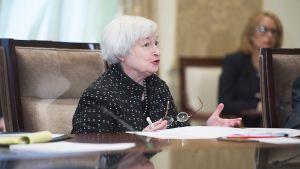 Yhdysvaltain keskuspankin johtaja Janet Yellen.