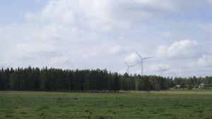 Havainnekuva Metsälän tuulipuistosta.