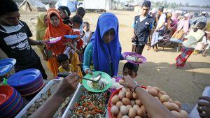 Rohingyo-pakolaisia Indonesiassa.