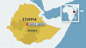Etiopia kartta