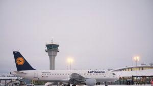 Lentokone Kittilässä