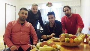Irakilaiset turvapaikanhakijat Ali, Mustafa, Alex ja Hasan
