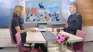 Antti Siika-Aho vieraili Ylen aamu-tv:ssä 30. syyskuuta 2010.