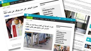Ylen arabiaksi julkaisemia artikkeleita