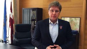 Latvian Harmonia -puolueen johtaja Nils Ušakovs.