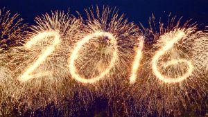 Vuosiluku 2016 ilotulituksena.