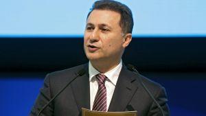 Gruevski puhujapöntössä.