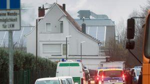 Pakolaiskeskus Dreieichissä lähellä Frankfurtia.
