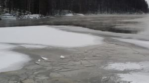 Heikkoa jäätä Vaajakoski Jyväskylä 4.1.2016