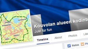 Ruutukaappaus Kouvolan alueen kodinturvajoukkojen Facebook-sivuilta