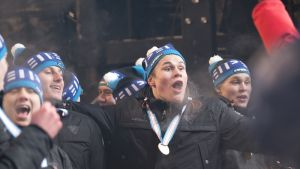 Jesse Puljujärvi vauhdissa MM-kultajuhlissa